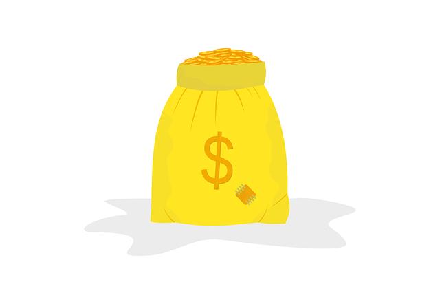 pytel peněz, ilustrace
